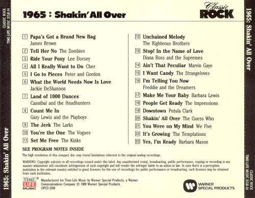 Classic Rock: 1965 - Shakin' All Over