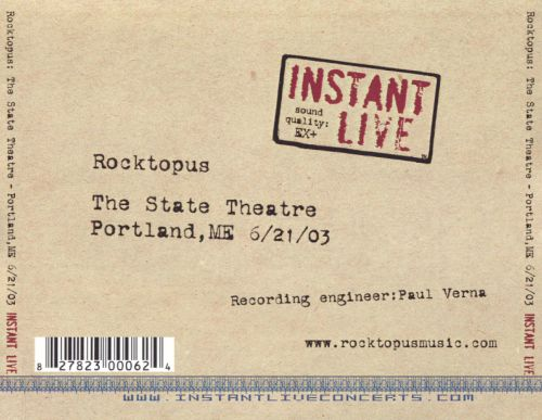Instant Live: The State Theater - Portland, ME, 6/21/03