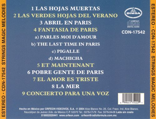 Strings Magic Melodies from Mexico, France and Italy, Vol. 1