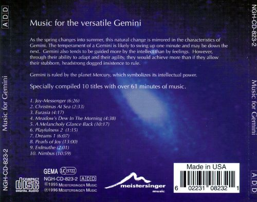 Music for Gemini: 21 May to 21 June