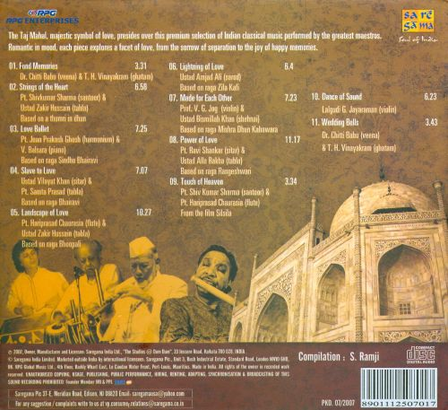 Music from the Taj: Symbol Of Music