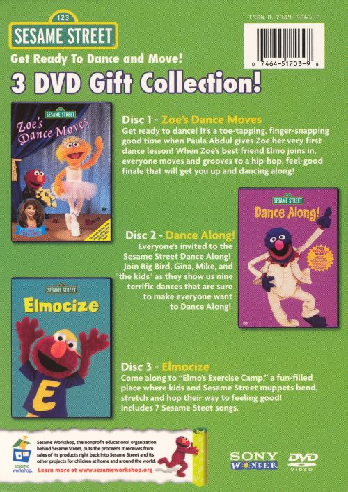Get Ready to Dance and Move! Sesame Street 3 DVD Gift Collection ...