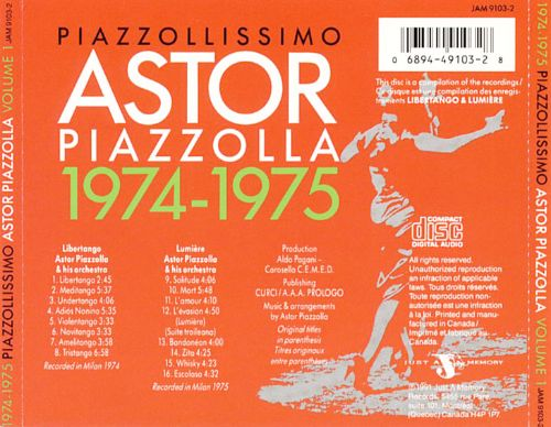 Astor Piazzolla: 1974-1975