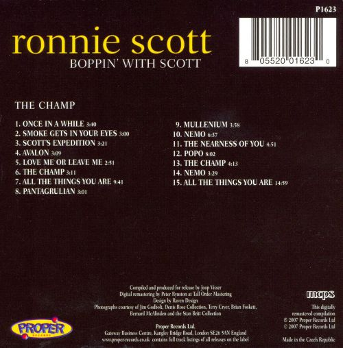 Boppin' with Scott: The Champ