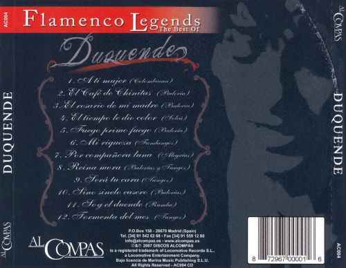 Flamenco Legends: The Best of Duquende
