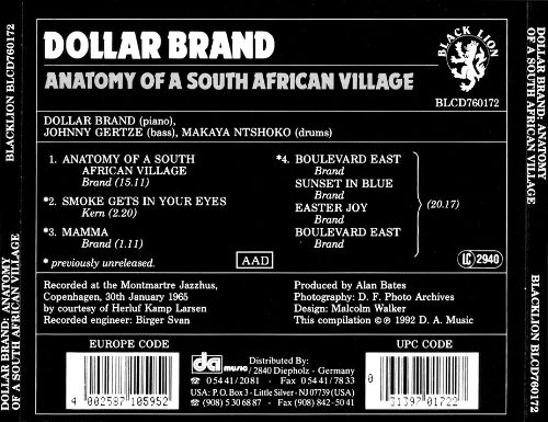 Anatomy of a South African Village