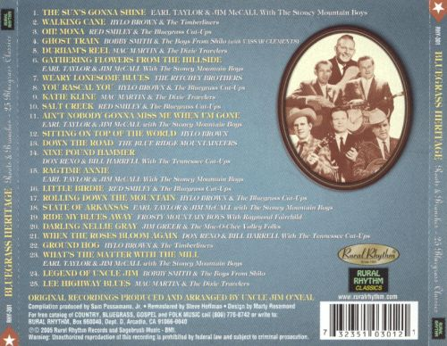 Bluegrass Heritage: Roots & Branches - 25 Bluegrass Classics