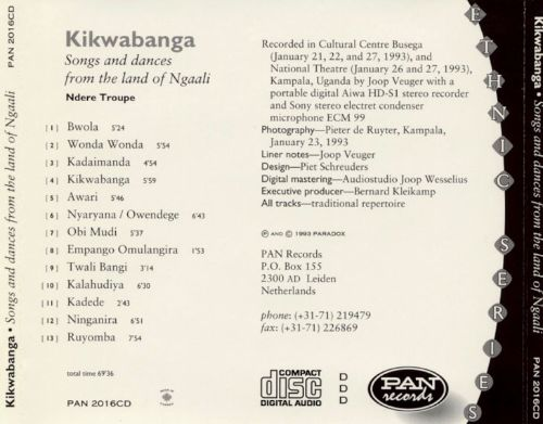 Ndrere Troupe: Songs & Dances from Ngaali
