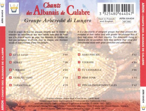 Albanian Songs from Calabria