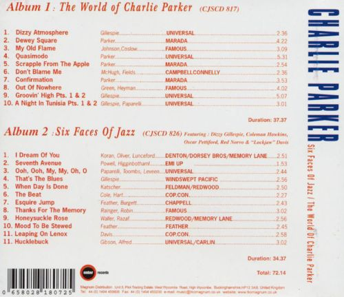 The World of Charlie Parker/Six Faces of Jazz