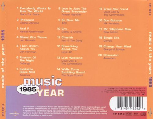 Music of the Year: 1985