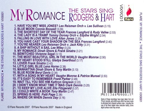 My Romance: Stars Sing Rodgers and Hart