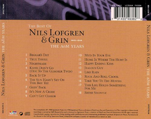 The Best of Nils Lofgren & Grin: The A&M Years