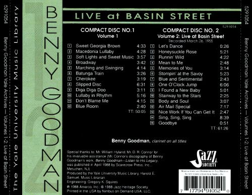 Yale Archives, Vol. 1-2: Live at Basin Street