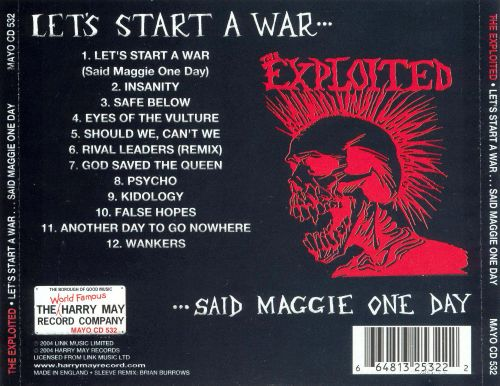 Let's Start a War... Said Maggie One Day