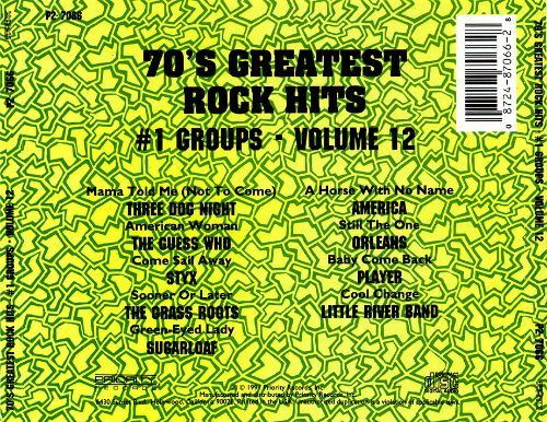 Seventies Greatest Rock Hits, Vol. 12: #1 Group