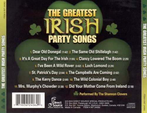 The Greatest Irish Party Songs