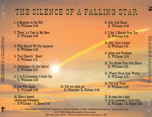 Sings Hank Williams: The Silence of a Falling Star