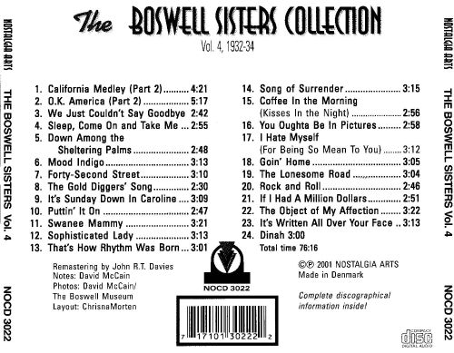 Boswell Sisters Collection, Vol. 4: 1932-1934