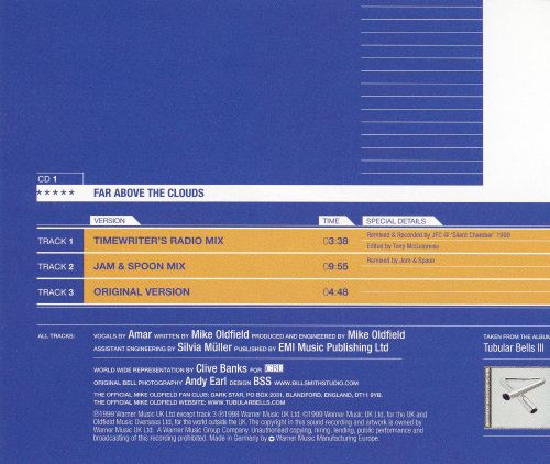 Far Above the Clouds, Pt. 1 [Import CD Single]