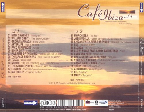 Cafe Ibiza, Vol. 4: The Ambient & Chill Out Album