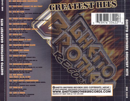 Ghetto Brothers Greatest Hits