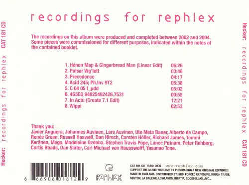 Recordings for Rephlex