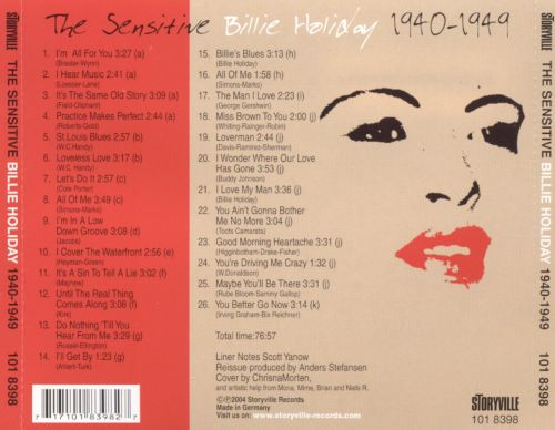 The Sensitive Billie Holiday 1940-1949