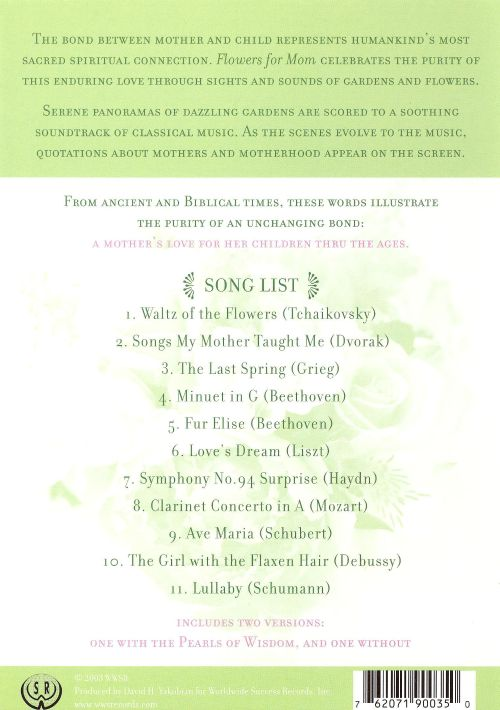 Flowers For Mom Dvdcd Various Artists Songs Reviews Credits