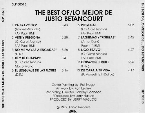 The Best of Justo Betancourt