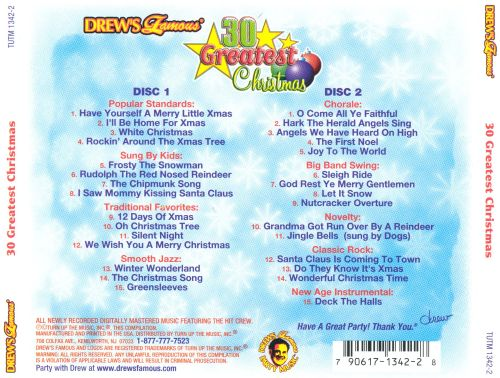 Drew's Famous 30 Greatest Christmas Songs