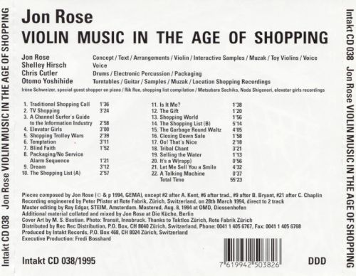 Violin Music in the Age of Shopping