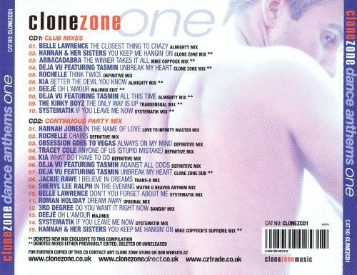 Clone Zone Dance Anthems One