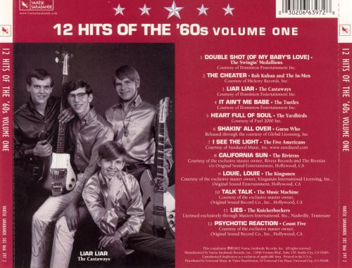 12 Hits of the '60s, Vol. 1: Five Star Collection