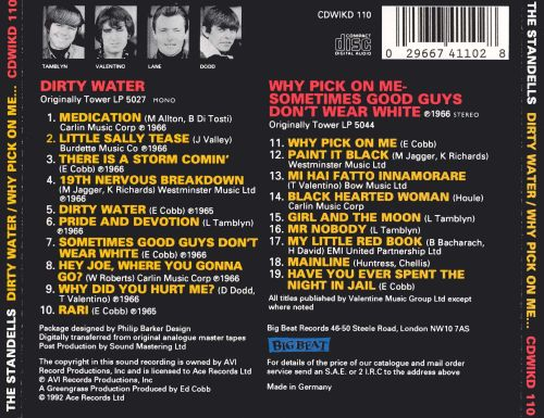 Dirty Water/Why Pick on Me
