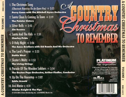 Country Christmas to Remember, Vol. 1