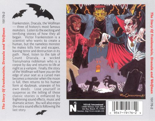 The Story of Frankenstein, Dracula and the Wolfman