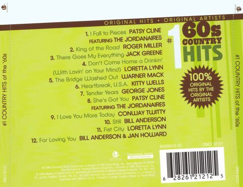 #1 Country Hits of the 60s [Madacy]