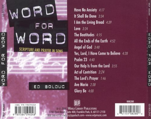 Word for Word: Scripture and Prayer in Song