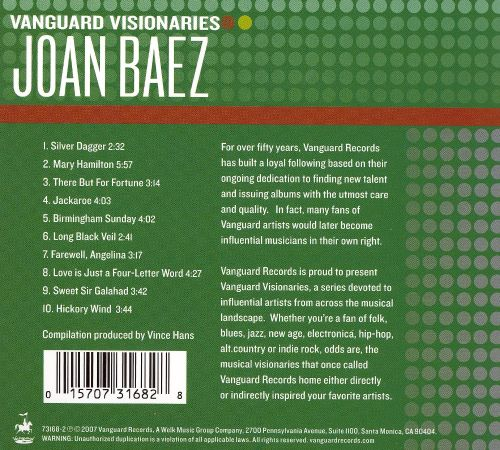 Vanguard Visionaries Joan Baez Songs Reviews Credits Allmusic