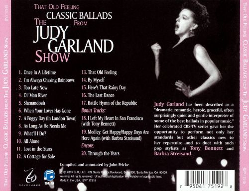 That Old Feeling: Classic Ballads from The Judy Garland Show