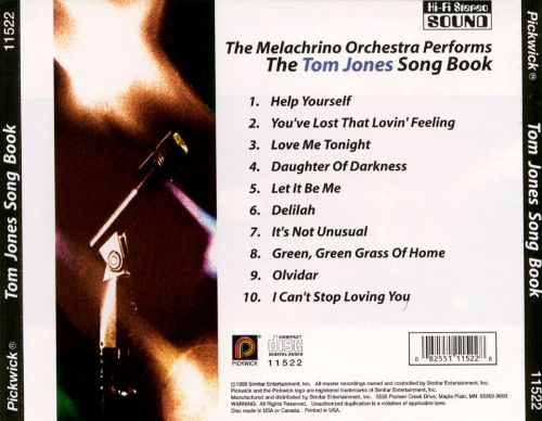 The Melachrino Orchestra Performs the Tom Jones Songbook