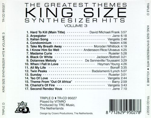 King Size Synthesizer Hits, Vol. 3