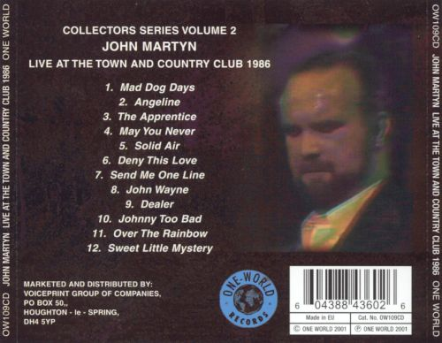 Live at the Town and Country Club 1986