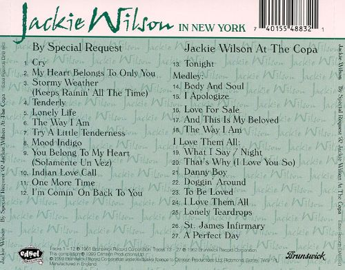 By Special Request/Jackie Wilson at the Copa