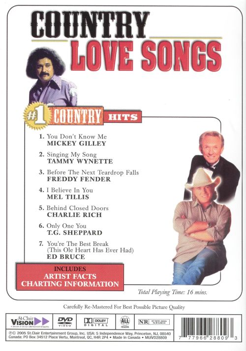 Country Love Songs Dvd 1 Various Artists Songs Reviews