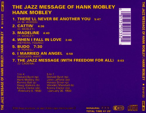 The Jazz Message of Hank Mobley, Vol. 1