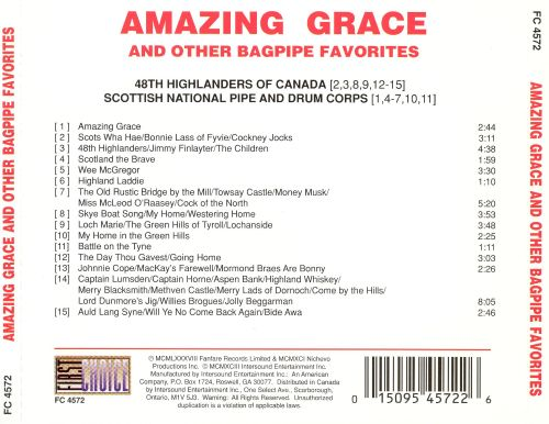 Amazing Grace Bagpipe Favorites Intersound