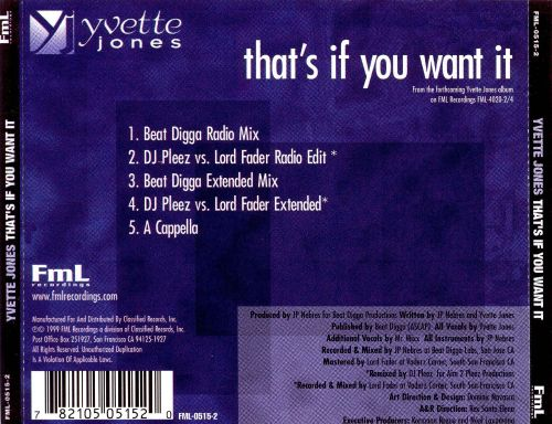That's If You Want It [CD/Vinyl Single]