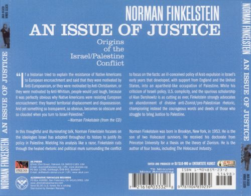 An Issue of Justice: The Origins of the Isreal/Pal